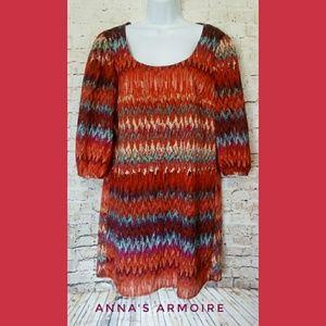 Lily Rose Shirt Dress Size L